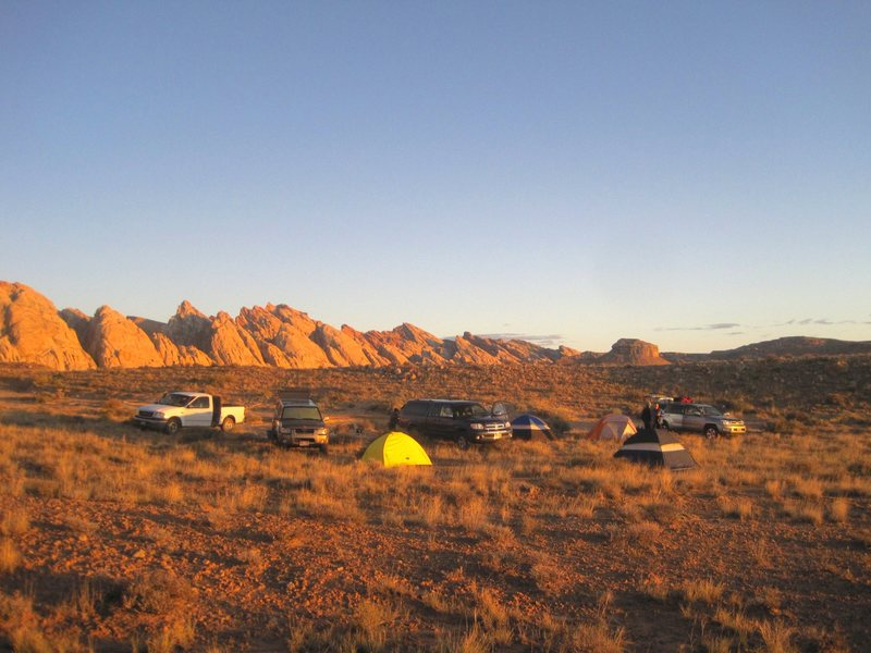 Rock Climbing Photo: Dawn at the camp