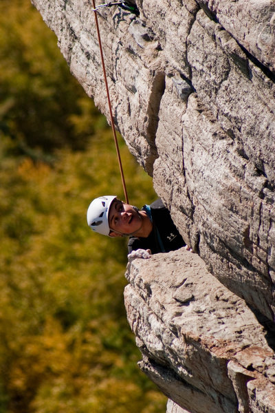 Rock Climbing Photo: high exposure at the gunks