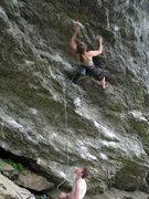 Rock Climbing Photo: Nancy Lane on the shared start of Tin Man and Tin ...