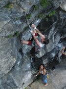 Rock Climbing Photo: Bill Schiffone starting up Predator - Sarah Cyrier...