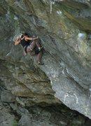 Rock Climbing Photo: Jen techniqueing the ramp