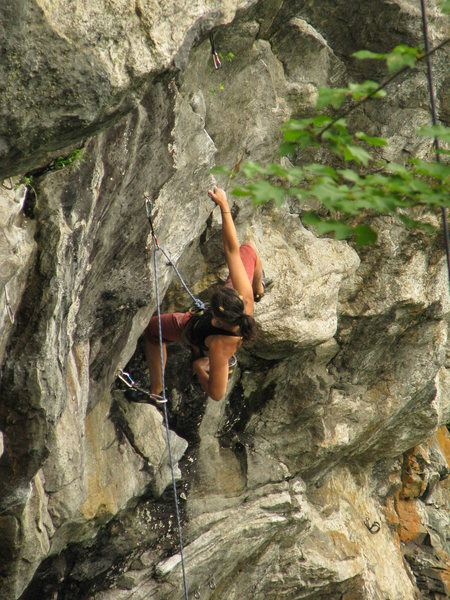 Rock Climbing Photo: Hilary Harris doing her best Boulder pose while wa...