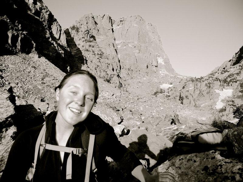 At the base of Hallett peak