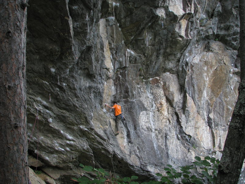 Starting up Dynosoar - unknown climber