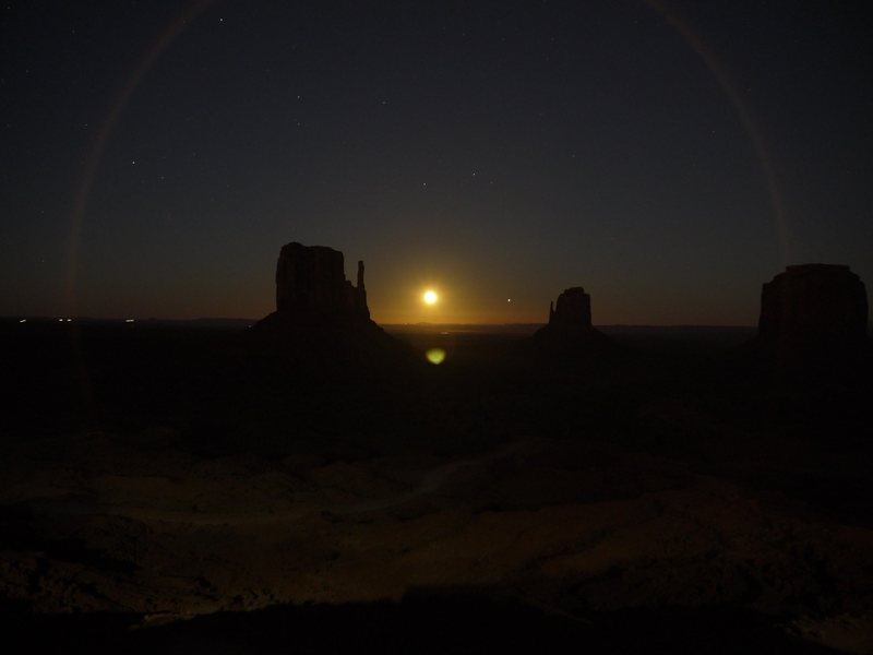 Moonrise over Monument Valley, Utah/Arizona