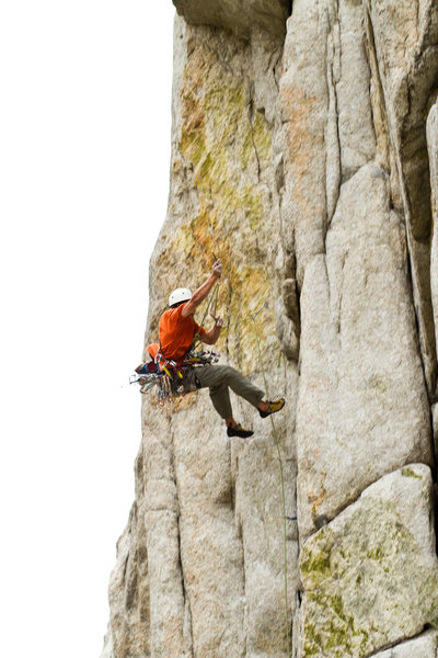 Rock Climbing Photo: Eric Gessner takes a whipper on Equipment Overhang...