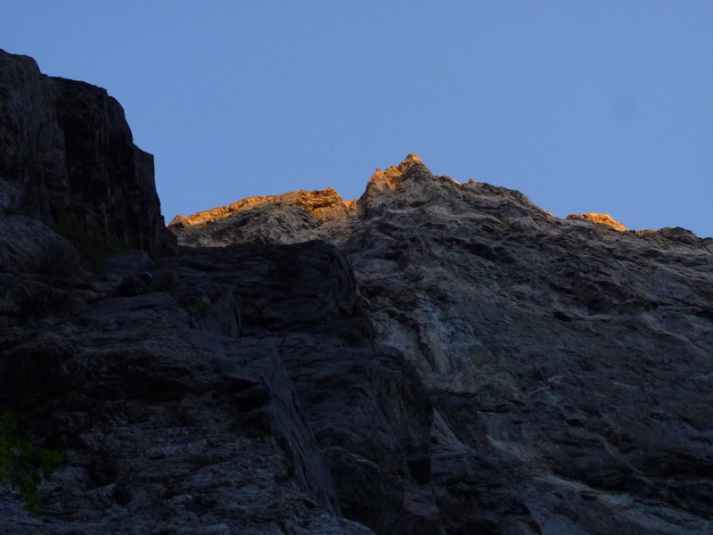 Early morning light on the Southern Arete.