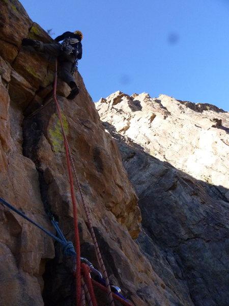Rock Climbing Photo: Final 5.10 pitch.