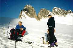 Rock Climbing Photo: On the way to Pigeon Spire, Howser Tower's in the ...