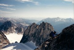 Rock Climbing Photo: Snowpatch west face and the Col
