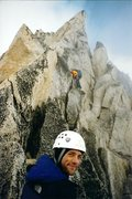Rock Climbing Photo: Bugaboo Spire with the Gendarme in the background.
