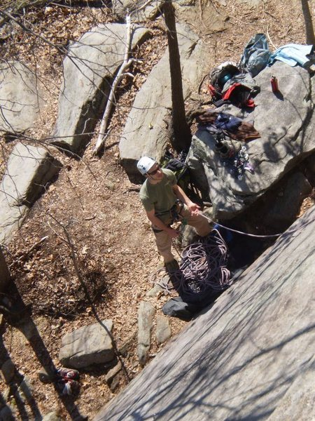 Rock Climbing Photo: Solstice @ Currahee, GA Slab Wall