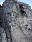 Rock Climbing Photo: last big move, so pumped