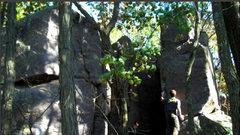 Rock Climbing Photo: Peter starts it up.