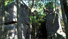 Rock Climbing Photo: Peter guns for the top