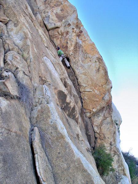 Chris Hubbard climbing Stellar Crack.