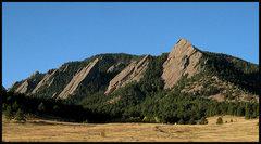 Rock Climbing Photo: Flatirons. Photo by Blitzo.