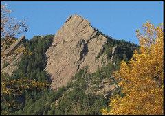 Rock Climbing Photo: First Flatiron. Photo by Blitzo.
