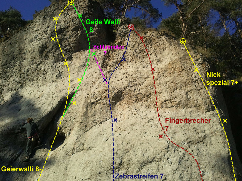 The crag from left to right, pic 4 of 5.