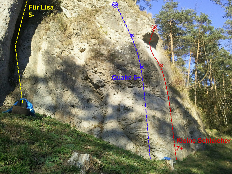 Rock Climbing Photo: The crag from left to right, pic 5 of 5.