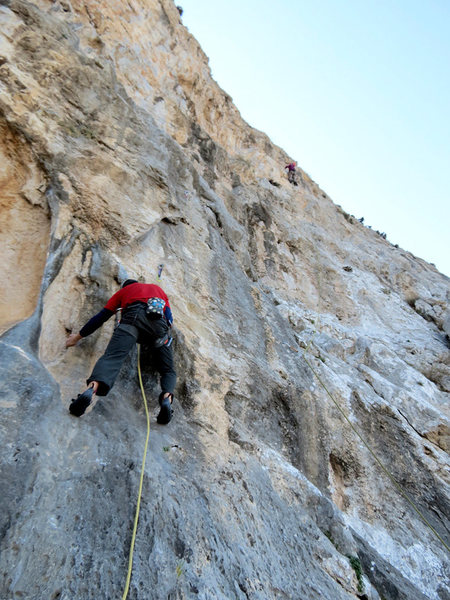Matt Nance preparing to style the opening moves on sweet Zagori.