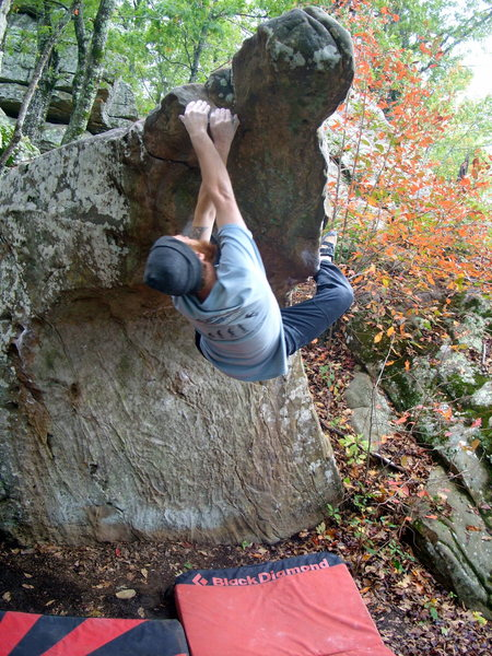 Rock Climbing Photo: matched on sloper