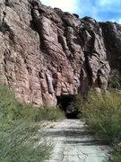 Climbs through the tunnle