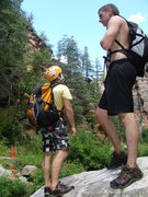 Rock Climbing Photo: In The canyon. Crazy pic