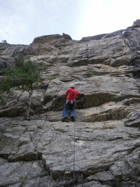 Rock Climbing Photo: Glen starting up Eagle Snacks.