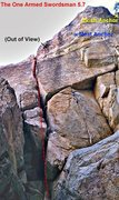 Rock Climbing Photo: Please note the top section is out of view atop th...