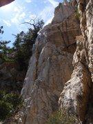 Rock Climbing Photo: One Armed Swordsman top-center