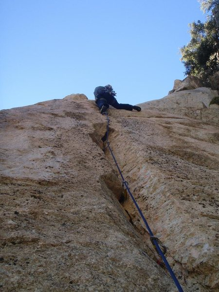 Rock Climbing Photo: Johnny K leading Electric Dylan