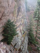 "Rock Climbing Photo: Unknown climber just starting up ""Out to Lung..."