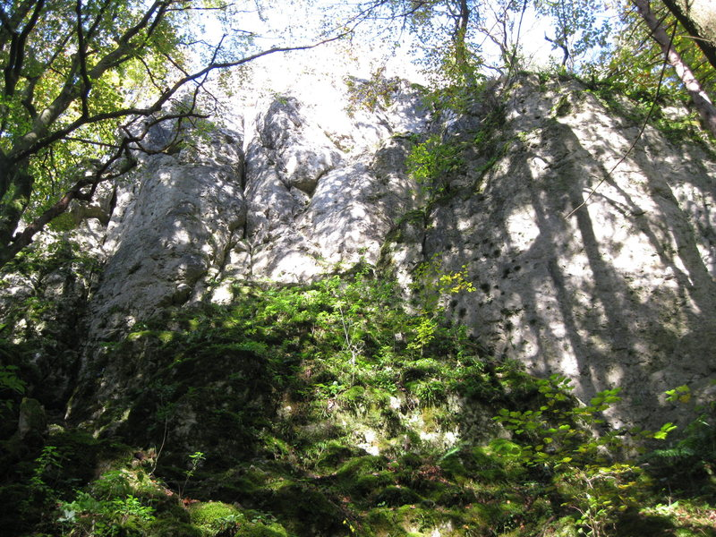 Rock Climbing Photo: First sight of the crag