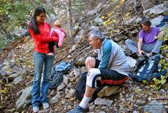 Rock Climbing Photo: Yeah, its a family affair.  Suzette Miller Baird (...