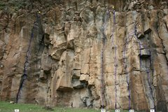 Rock Climbing Photo: The leftmost of the routes on the cliff