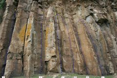 Rock Climbing Photo: The rightmost series of routes on the cliff