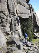 Rock Climbing Photo: The start of Knight's Move (photo by Phil Ashton)