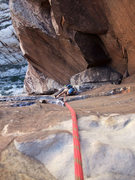 Rock Climbing Photo: Christy on P5 (per Handren) of Epinephrine