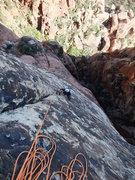 Rock Climbing Photo: Frank on P4