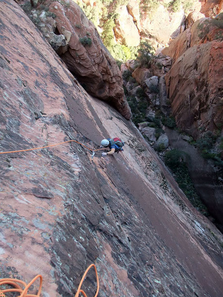Frank on P2 (crux pitch)