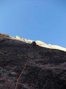 Rock Climbing Photo: Frank on P3