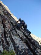 Rock Climbing Photo: Frank on P5