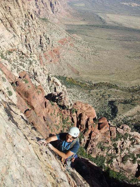 Rock Climbing Photo: Frank on P6