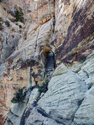 Rock Climbing Photo: catwalk on Resolution Arete (link-up), P18 in Hand...