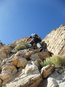 Rock Climbing Photo: 4th and low 5th scrambling to the summit on our In...