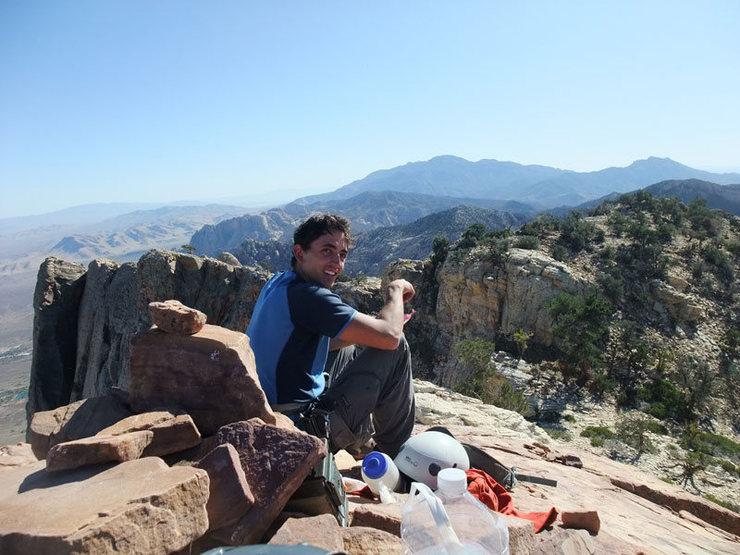 Frank enjoying the summit of Mt Wilson