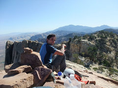Rock Climbing Photo: Frank enjoying the summit of Mt Wilson