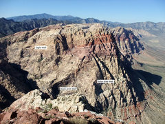 Rock Climbing Photo: Rainbow Mt from the summit of Mt Wilson