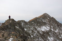 Rock Climbing Photo: John Percassi on the Knife nearing Babcock. Nov. 2...
